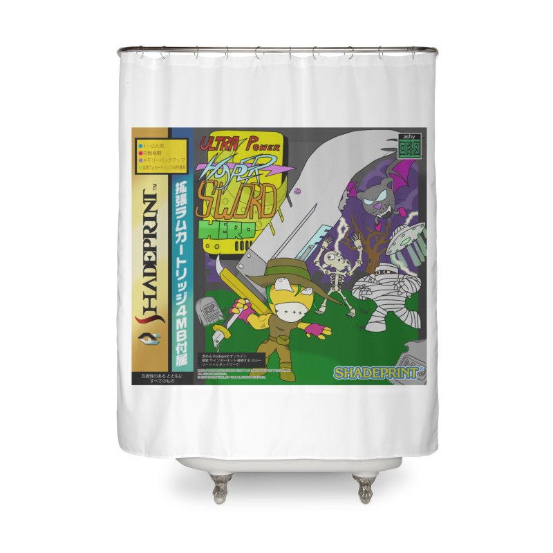 Super Power Hyper Sword Hero [CD Case insert] Home Shower Curtain by Shadeprint's Artist Shop