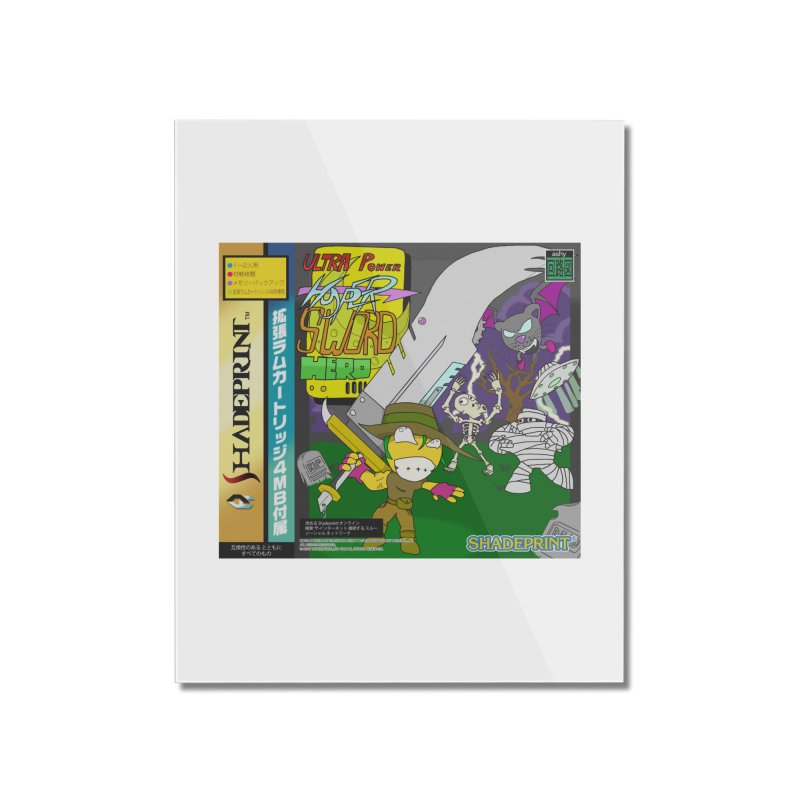 Super Power Hyper Sword Hero [CD Case insert] Home Mounted Acrylic Print by Shadeprint's Artist Shop