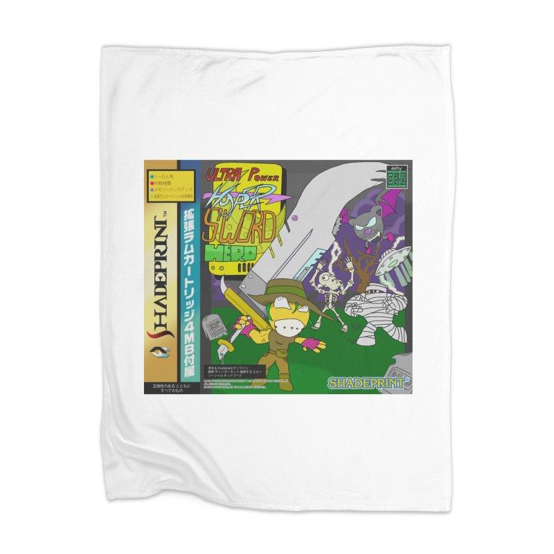 Super Power Hyper Sword Hero [CD Case insert] Home Blanket by SHADEPRINT.DESIGN