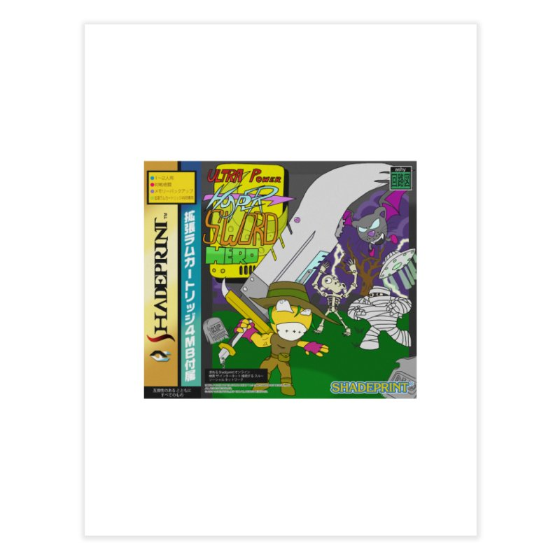 Super Power Hyper Sword Hero [CD Case insert] Home Fine Art Print by Shadeprint's Artist Shop