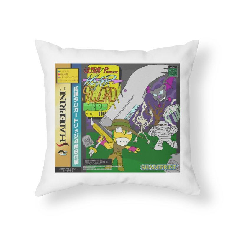 Super Power Hyper Sword Hero [CD Case insert] Home Throw Pillow by Shadeprint's Artist Shop