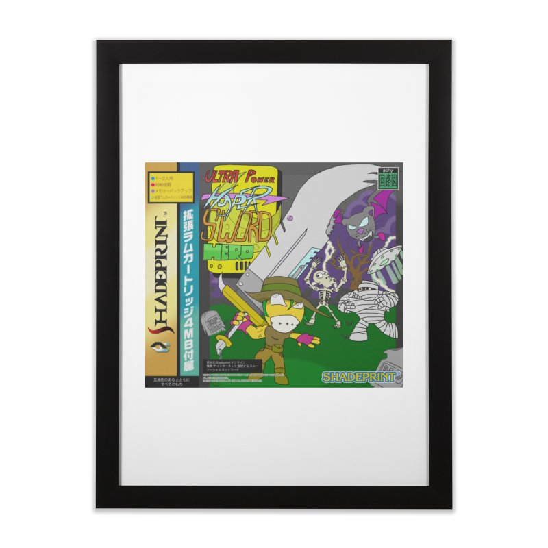 Super Power Hyper Sword Hero [CD Case insert] Home Framed Fine Art Print by Shadeprint's Artist Shop
