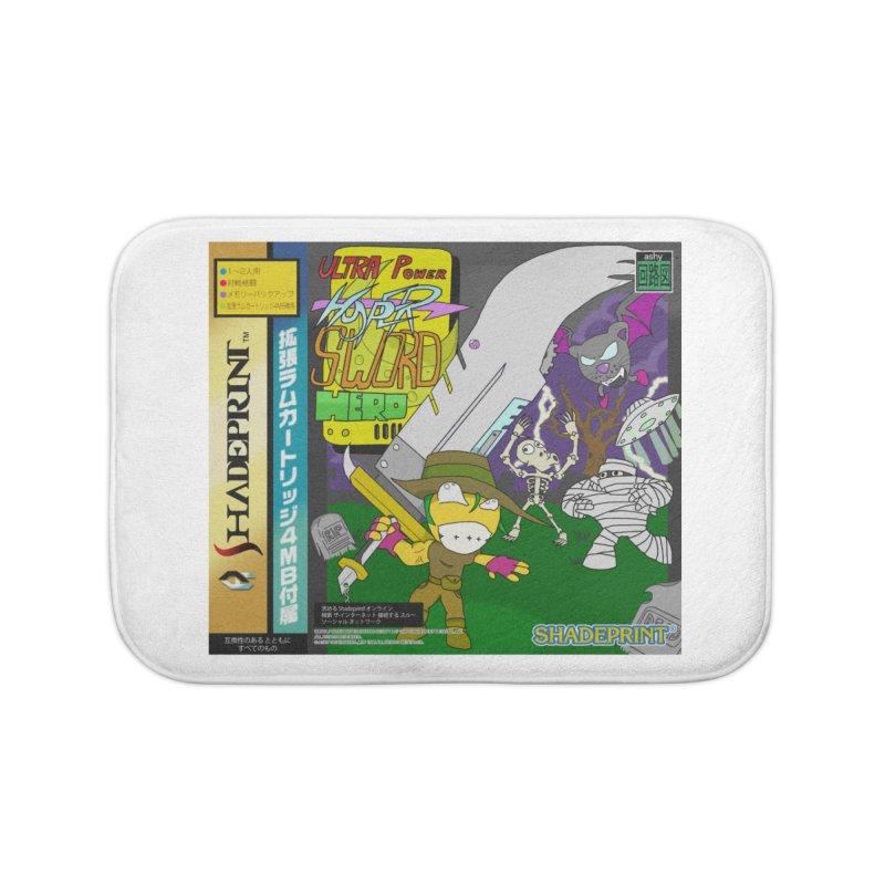 Super Power Hyper Sword Hero [CD Case insert] Home Bath Mat by Shadeprint's Artist Shop