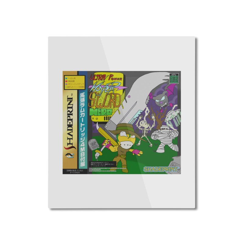 Super Power Hyper Sword Hero [CD Case insert] Home Mounted Aluminum Print by Shadeprint's Artist Shop