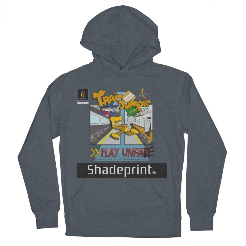 Train Jumper. (Jewel Case Sleeve) [FRONT]. Men's Pullover Hoody by Shadeprint's Artist Shop