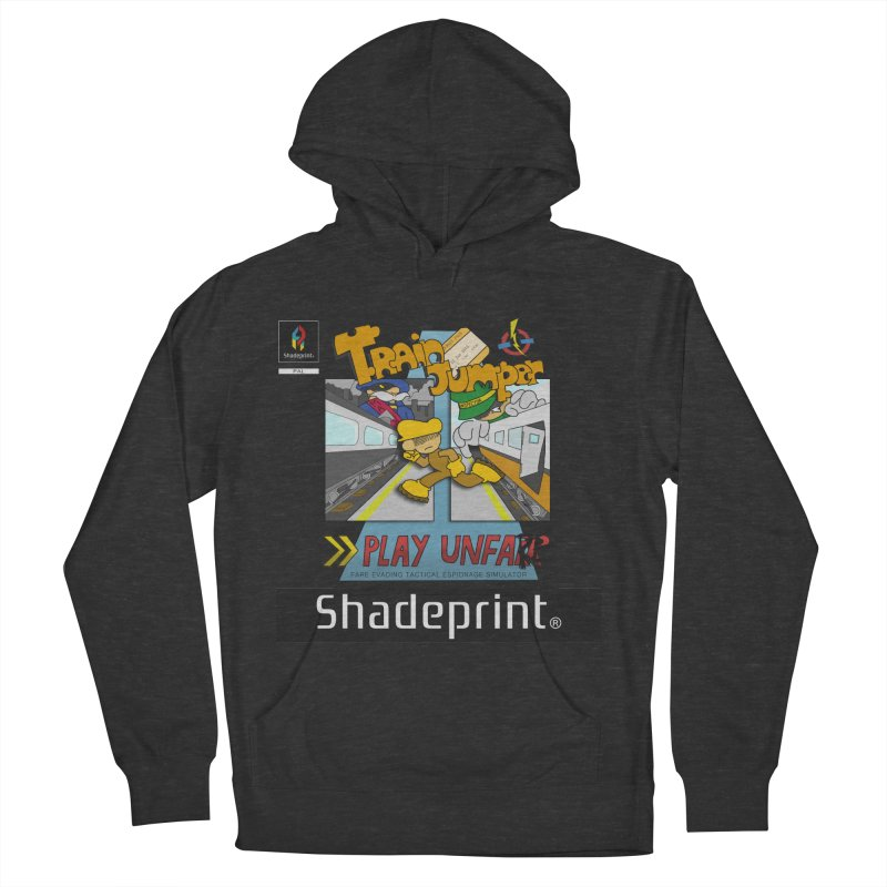 Train Jumper. (Jewel Case Sleeve) [FRONT]. Men's Pullover Hoody by Shadeprint's Artist Shop
