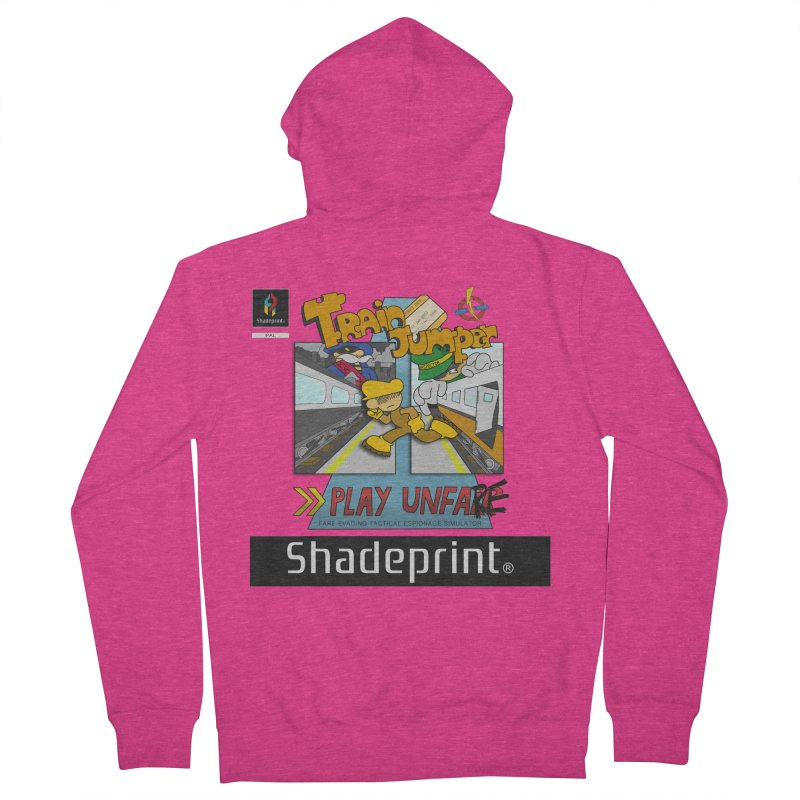 Train Jumper. (Jewel Case Sleeve) [FRONT]. Women's Zip-Up Hoody by Shadeprint's Artist Shop