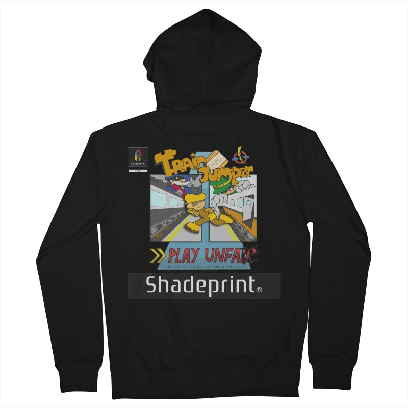 Train Jumper. (Jewel Case Sleeve) [FRONT]. Women's French Terry Zip-Up Hoody by Shadeprint's Artist Shop
