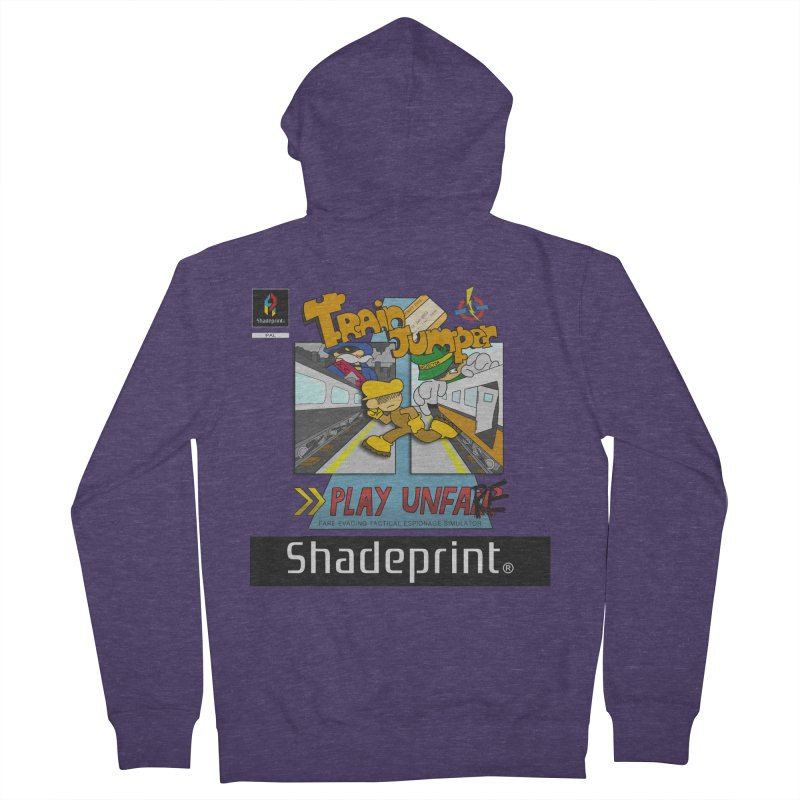 Train Jumper. (Jewel Case Sleeve) [FRONT]. Men's Zip-Up Hoody by Shadeprint's Artist Shop