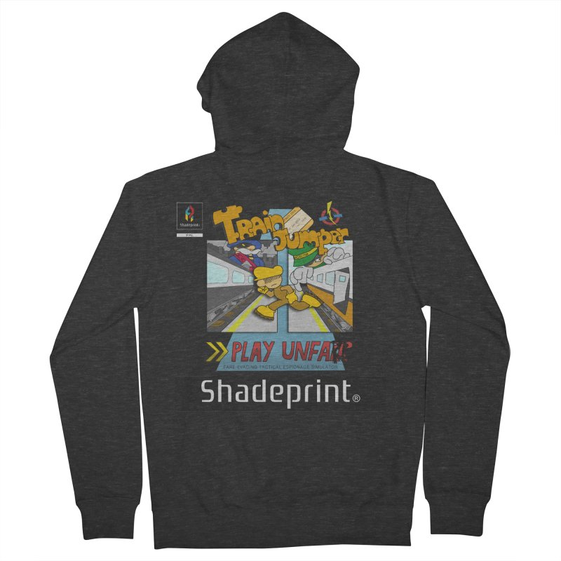 Train Jumper. (Jewel Case Sleeve) [FRONT]. Men's French Terry Zip-Up Hoody by Shadeprint's Artist Shop