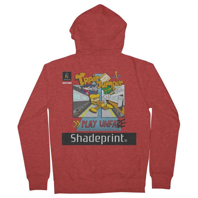 Train Jumper. (Jewel Case Sleeve) [FRONT]. Men's Zip-Up Hoody by Shadeprint's Artist Shop