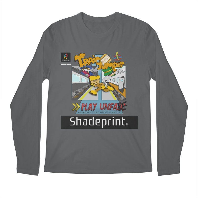Train Jumper. (Jewel Case Sleeve) [FRONT]. Men's Longsleeve T-Shirt by Shadeprint's Artist Shop