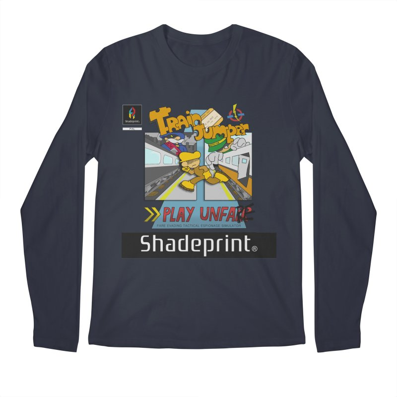 Train Jumper. (Jewel Case Sleeve) [FRONT]. Men's Regular Longsleeve T-Shirt by Shadeprint's Artist Shop