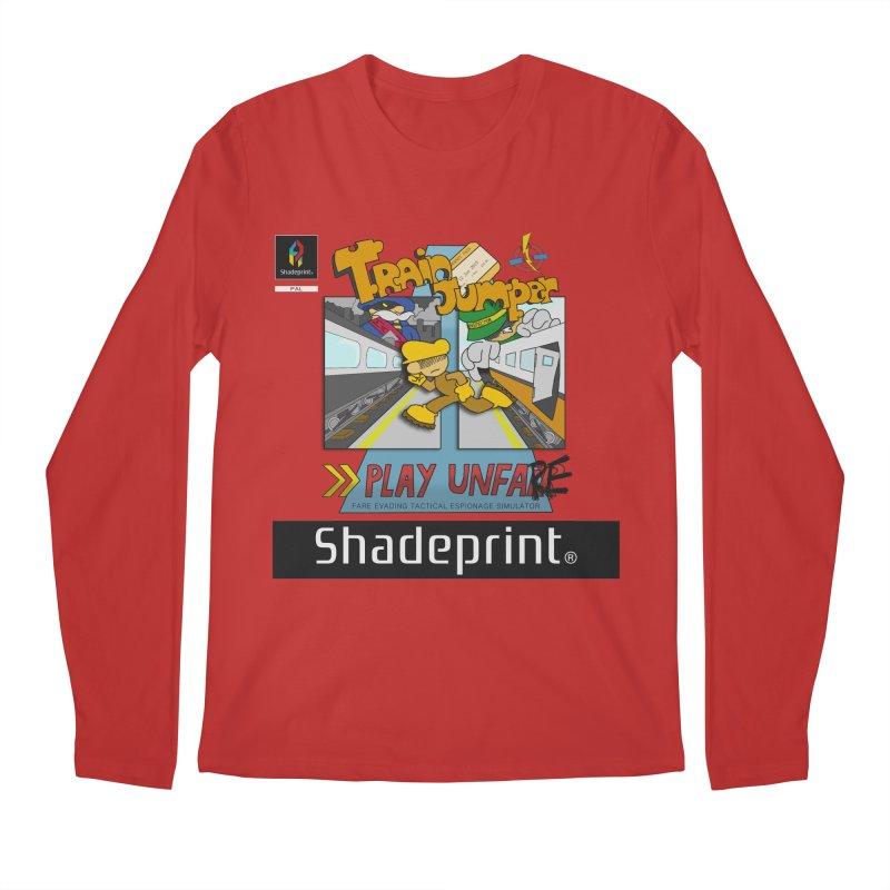 Train Jumper. (Jewel Case Sleeve) [FRONT]. Men's Longsleeve T-Shirt by Shadeprint's Artist Shop