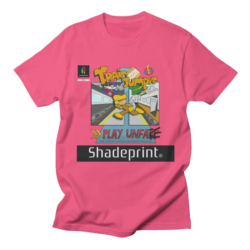 Train Jumper. (Jewel Case Sleeve) [FRONT]. Men's T-Shirt by Shadeprint's Artist Shop