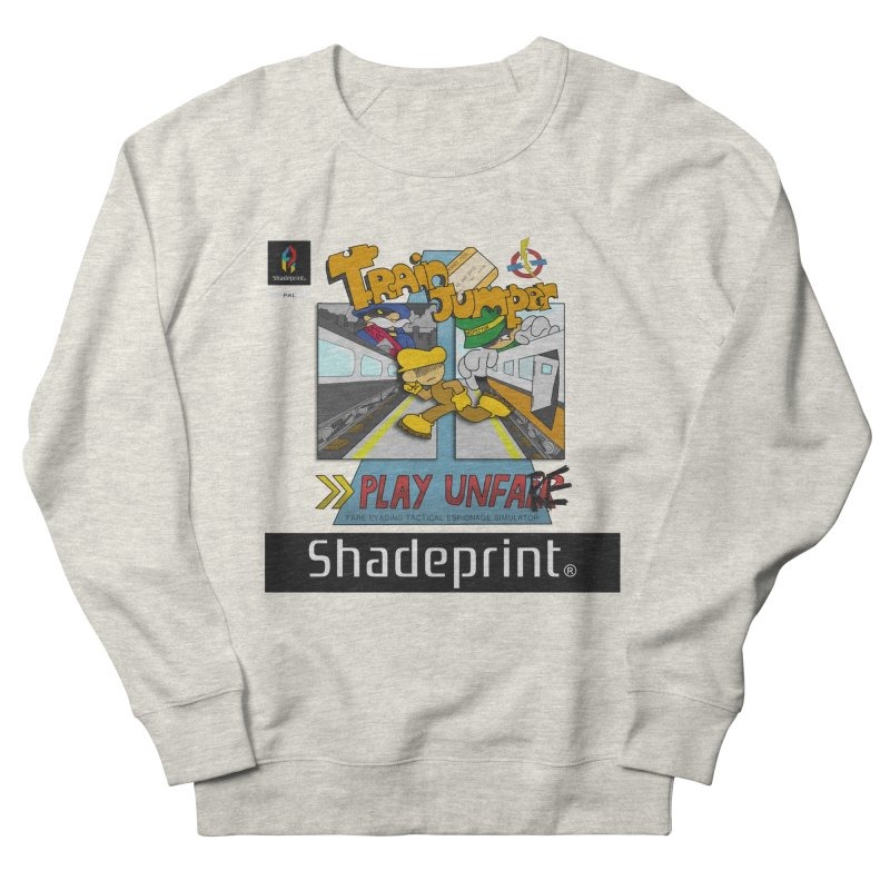 Train Jumper. (Jewel Case Sleeve) [FRONT]. Women's French Terry Sweatshirt by Shadeprint's Artist Shop