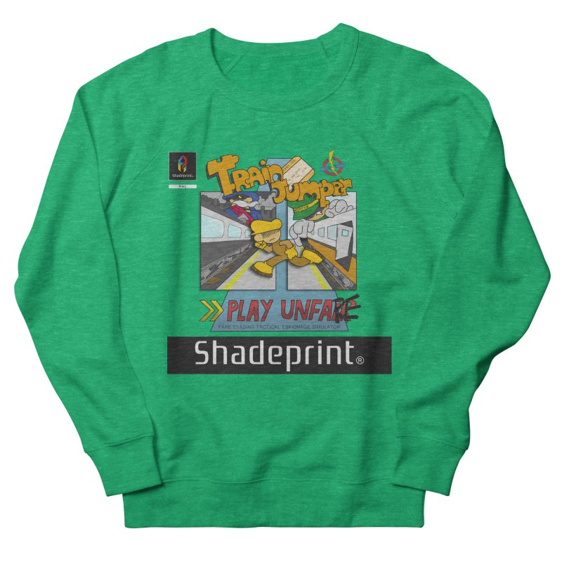 Train Jumper. (Jewel Case Sleeve) [FRONT]. Men's Sweatshirt by Shadeprint's Artist Shop