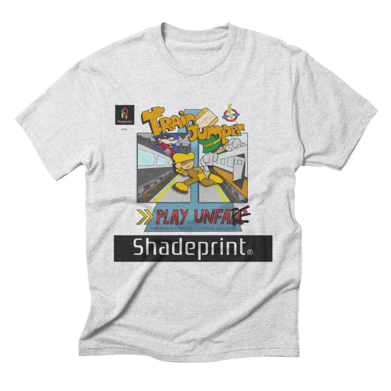 Train Jumper. (Jewel Case Sleeve) [FRONT]. Men's Triblend T-Shirt by Shadeprint's Artist Shop