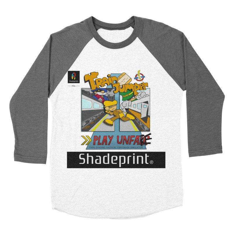 Train Jumper. (Jewel Case Sleeve) [FRONT]. Women's Baseball Triblend T-Shirt by Shadeprint's Artist Shop