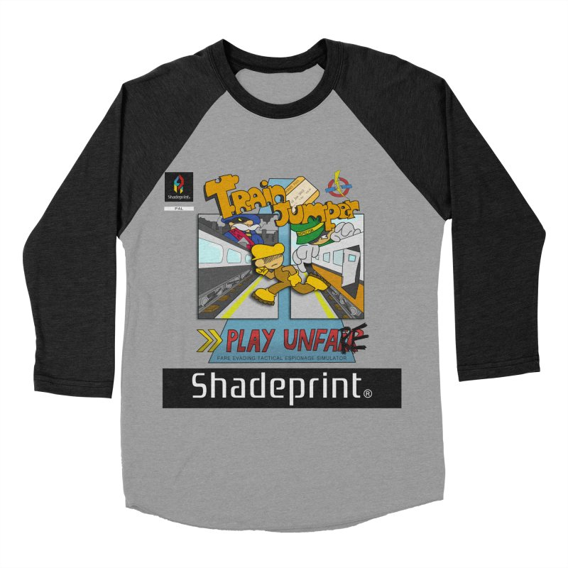 Train Jumper. (Jewel Case Sleeve) [FRONT]. Men's Baseball Triblend Longsleeve T-Shirt by Shadeprint's Artist Shop