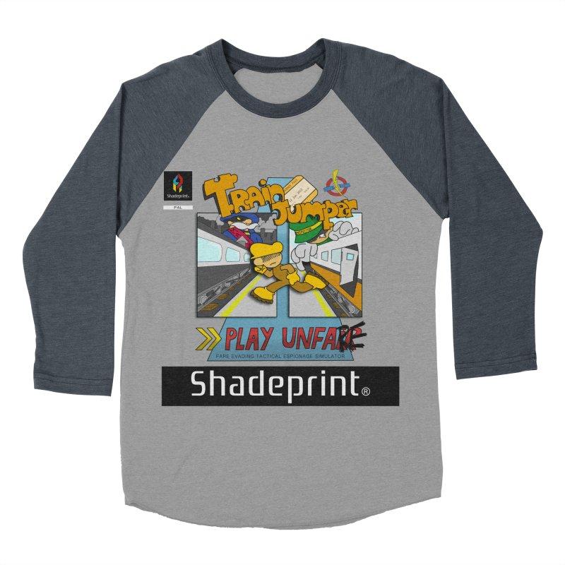 Train Jumper. (Jewel Case Sleeve) [FRONT]. Men's Baseball Triblend T-Shirt by Shadeprint's Artist Shop