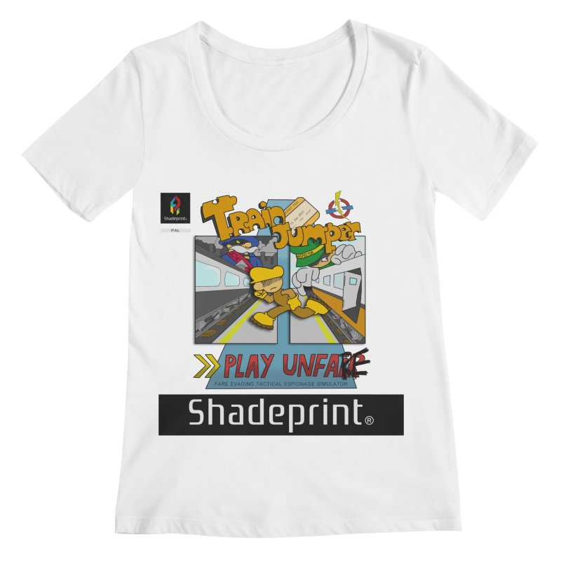 Train Jumper. (Jewel Case Sleeve) [FRONT]. Women's Regular Scoop Neck by Shadeprint's Artist Shop
