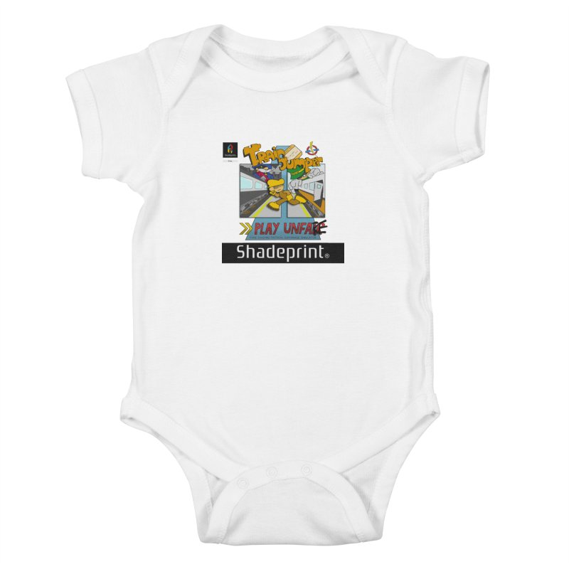Train Jumper. (Jewel Case Sleeve) [FRONT]. Kids Baby Bodysuit by Shadeprint's Artist Shop