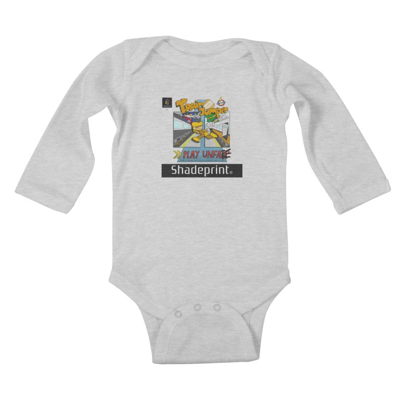 Train Jumper. (Jewel Case Sleeve) [FRONT]. Kids Baby Longsleeve Bodysuit by Shadeprint's Artist Shop