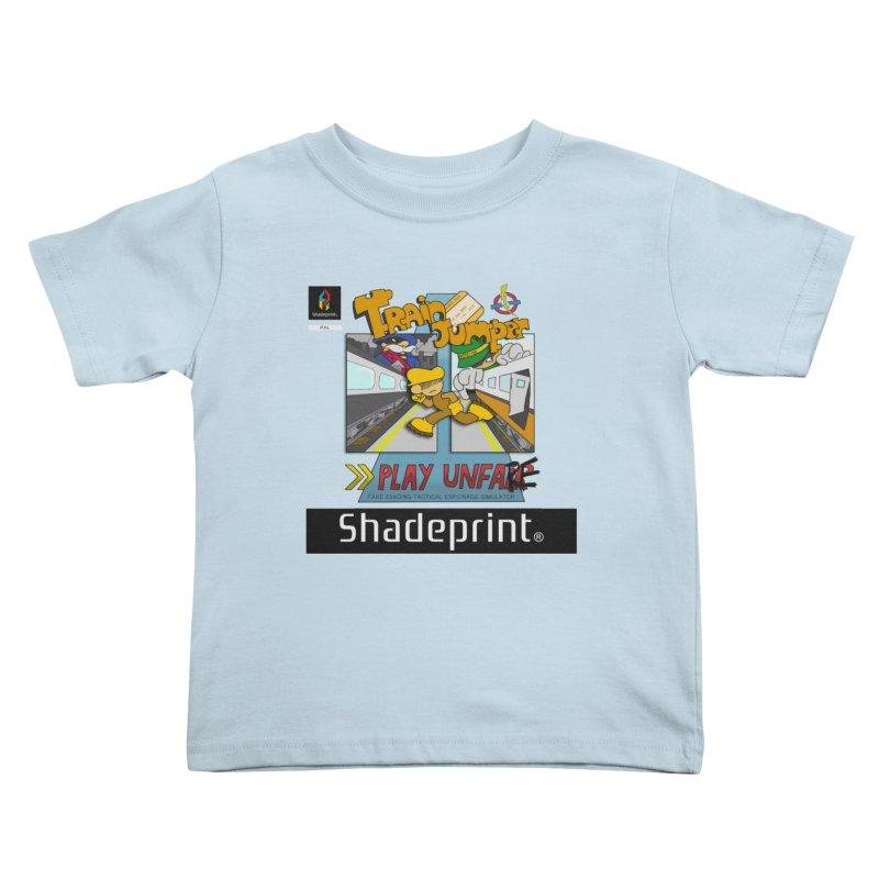 Train Jumper. (Jewel Case Sleeve) [FRONT]. Kids Toddler T-Shirt by Shadeprint's Artist Shop