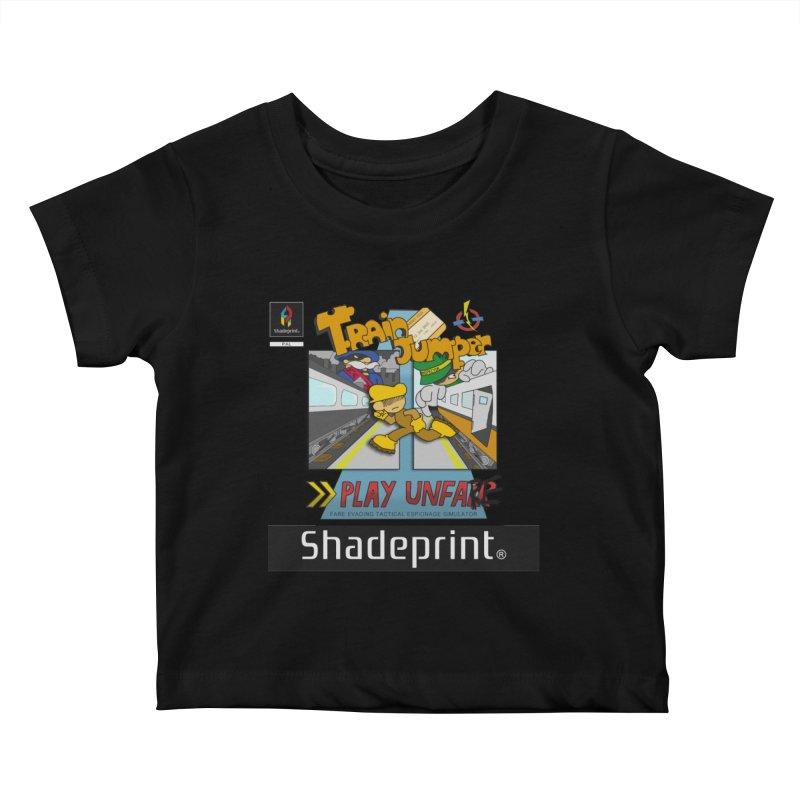 Train Jumper. (Jewel Case Sleeve) [FRONT]. Kids Baby T-Shirt by Shadeprint's Artist Shop