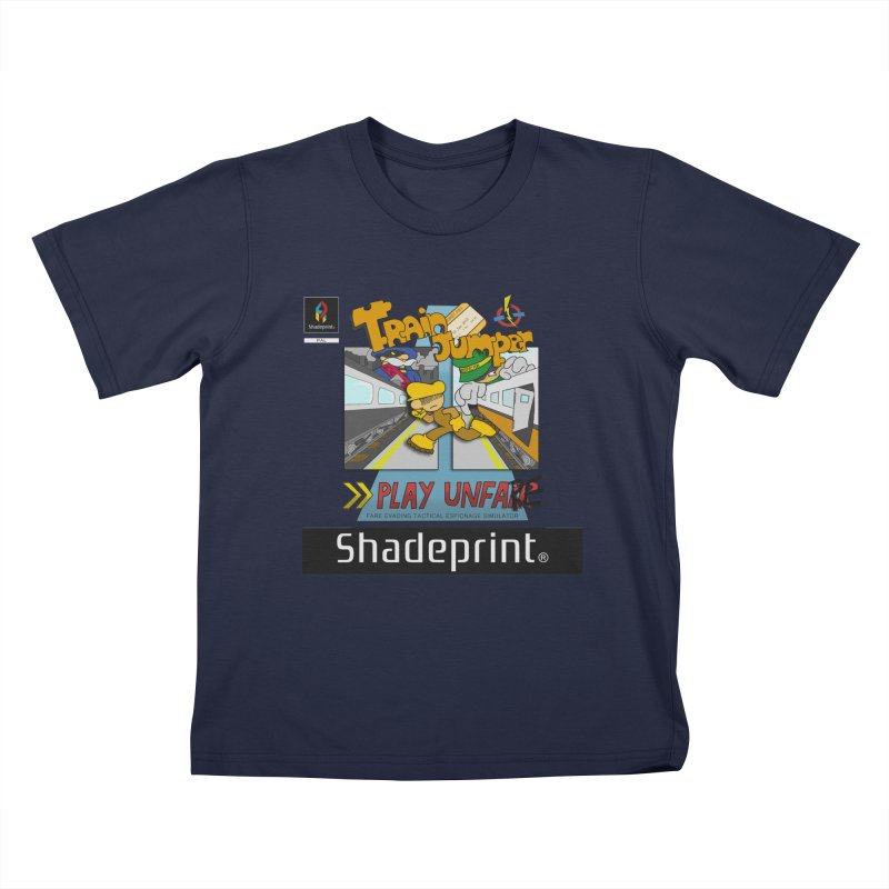 Train Jumper. (Jewel Case Sleeve) [FRONT]. Kids T-Shirt by Shadeprint's Artist Shop