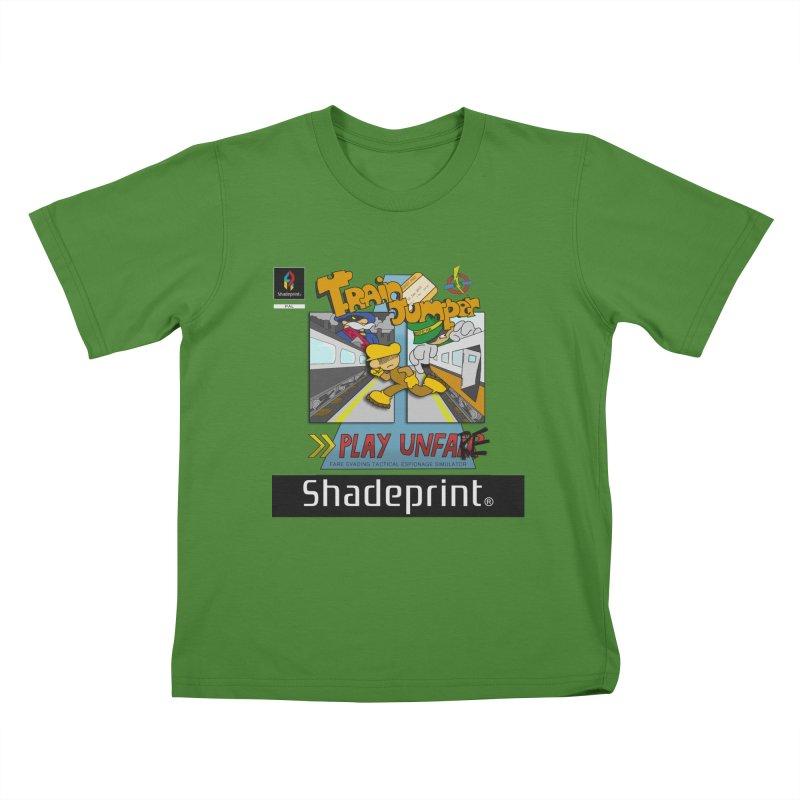 Train Jumper. (Jewel Case Sleeve) [FRONT]. Kids T-Shirt by Shadeprint's Artist Shop