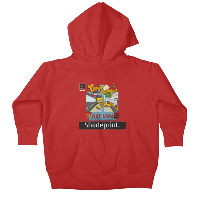 Train Jumper. (Jewel Case Sleeve) [FRONT]. Kids Baby Zip-Up Hoody by Shadeprint's Artist Shop