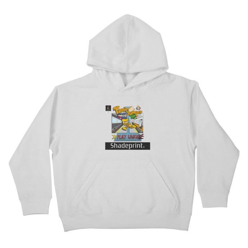 Train Jumper. (Jewel Case Sleeve) [FRONT]. Kids Pullover Hoody by Shadeprint's Artist Shop