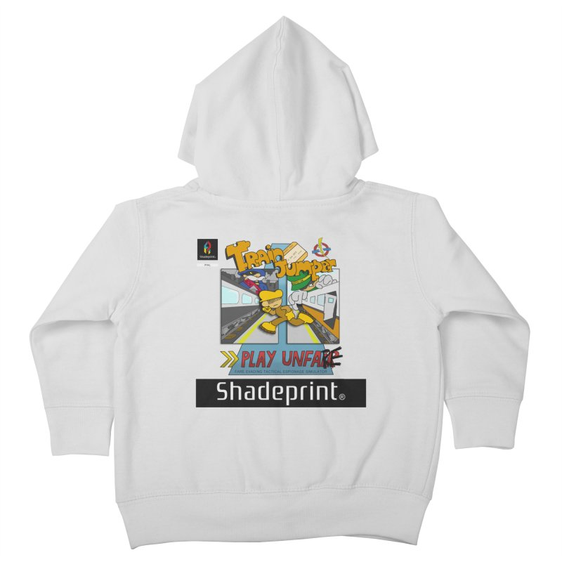 Train Jumper. (Jewel Case Sleeve) [FRONT]. Kids Toddler Zip-Up Hoody by Shadeprint's Artist Shop