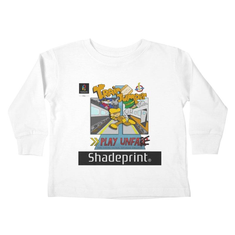 Train Jumper. (Jewel Case Sleeve) [FRONT]. Kids Toddler Longsleeve T-Shirt by Shadeprint's Artist Shop