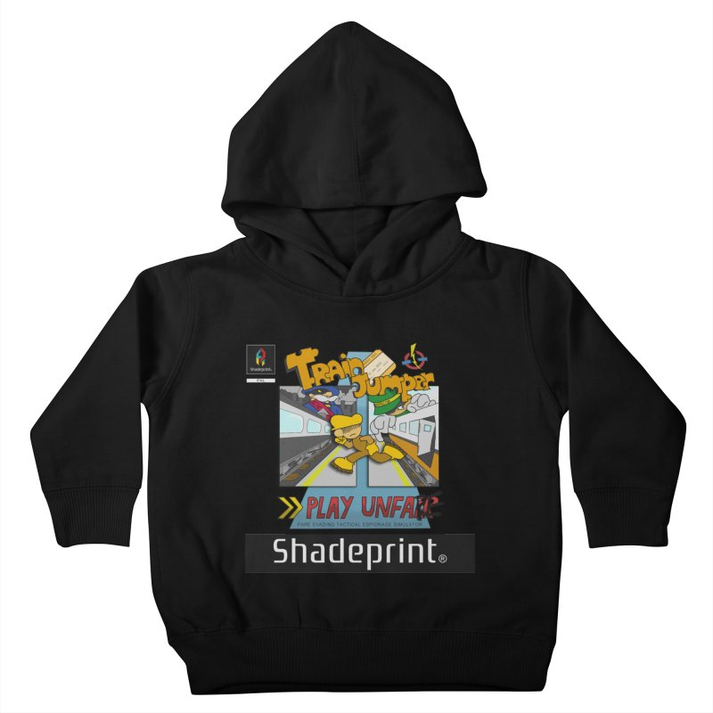 Train Jumper. (Jewel Case Sleeve) [FRONT]. Kids Toddler Pullover Hoody by Shadeprint's Artist Shop