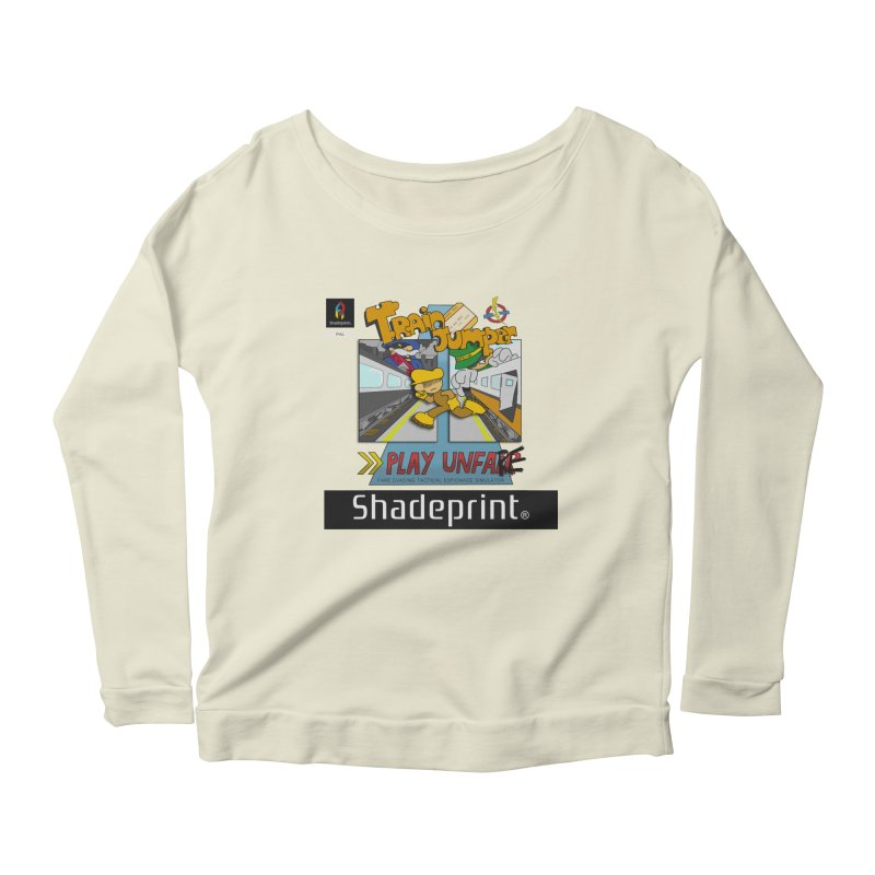 Train Jumper. (Jewel Case Sleeve) [FRONT]. Women's Longsleeve Scoopneck  by Shadeprint's Artist Shop