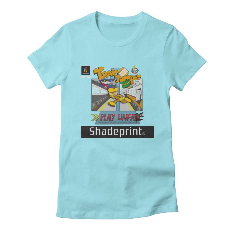 Train Jumper. (Jewel Case Sleeve) [FRONT]. Women's Fitted T-Shirt by Shadeprint's Artist Shop