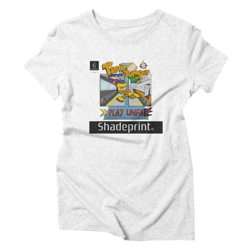 Train Jumper. (Jewel Case Sleeve) [FRONT]. Women's Triblend T-shirt by Shadeprint's Artist Shop