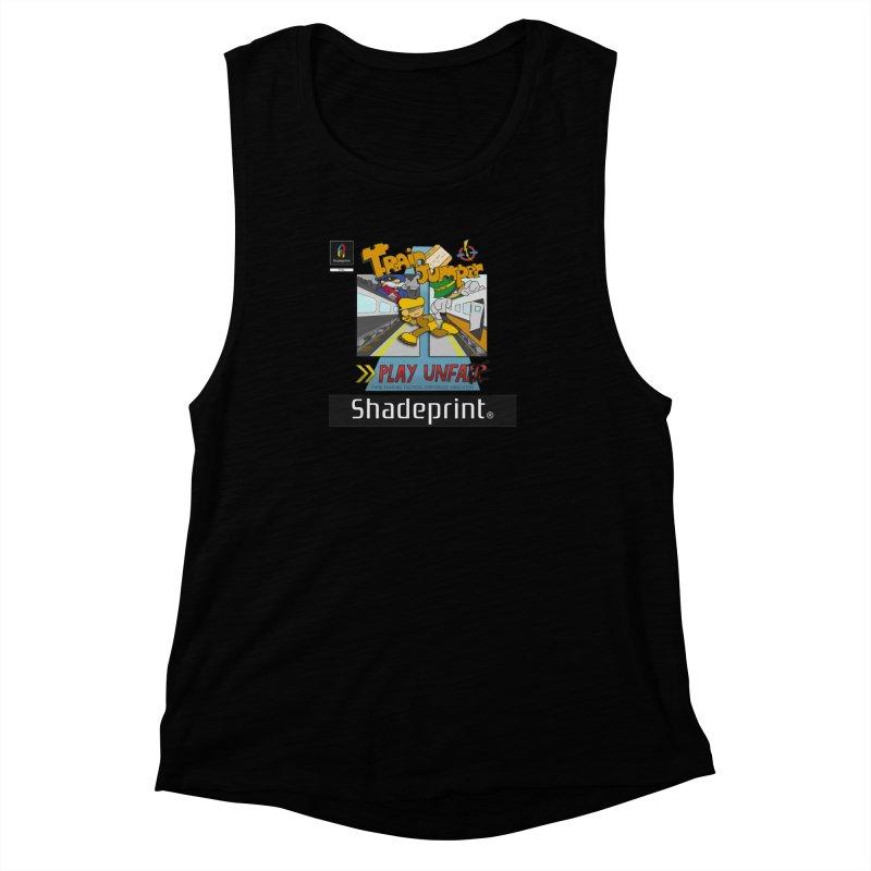 Train Jumper. (Jewel Case Sleeve) [FRONT]. Women's Muscle Tank by Shadeprint's Artist Shop