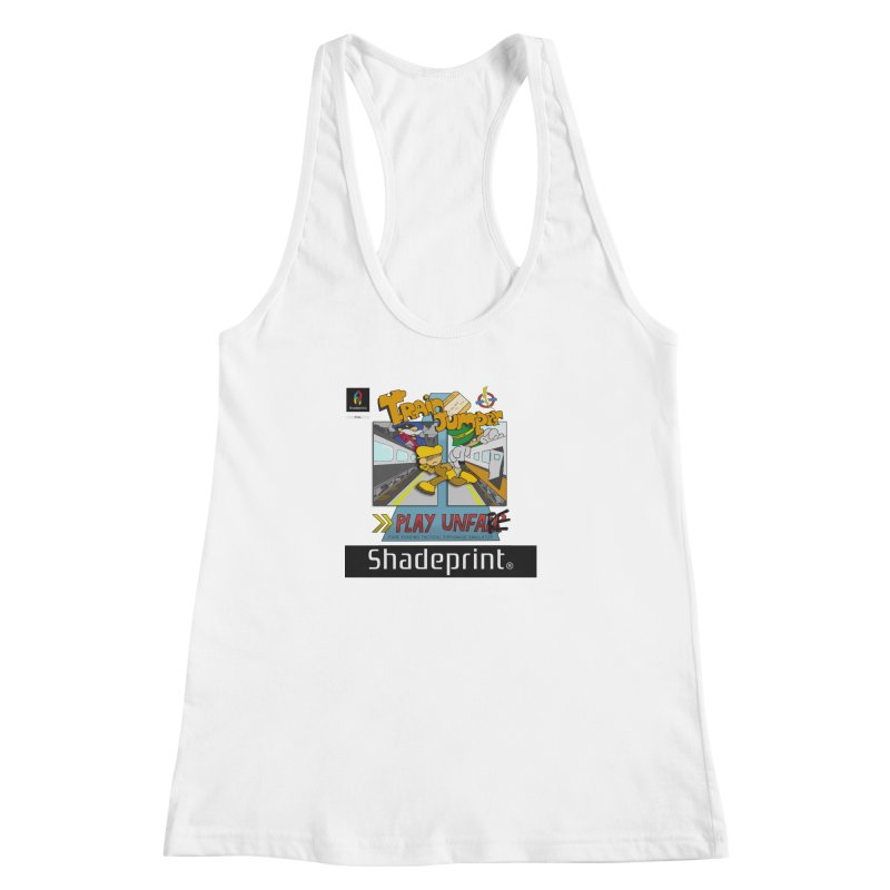 Train Jumper. (Jewel Case Sleeve) [FRONT]. Women's Racerback Tank by Shadeprint's Artist Shop