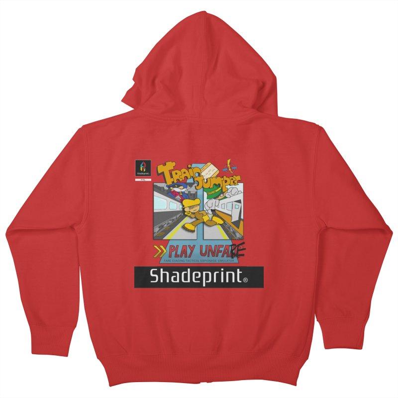 Train Jumper. (Jewel Case Sleeve) [FRONT]. Kids Zip-Up Hoody by Shadeprint's Artist Shop