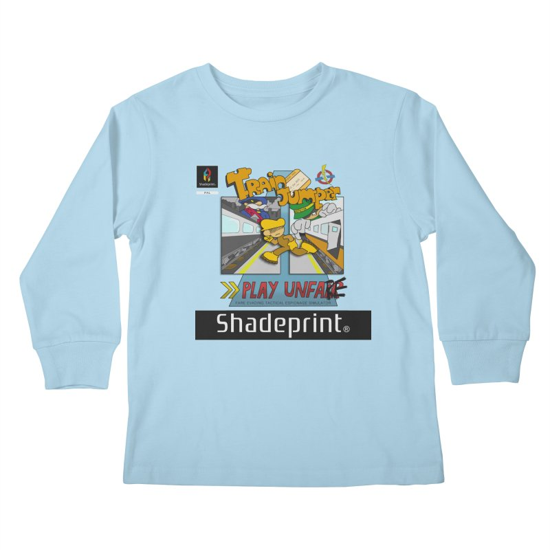 Train Jumper. (Jewel Case Sleeve) [FRONT]. Kids Longsleeve T-Shirt by Shadeprint's Artist Shop