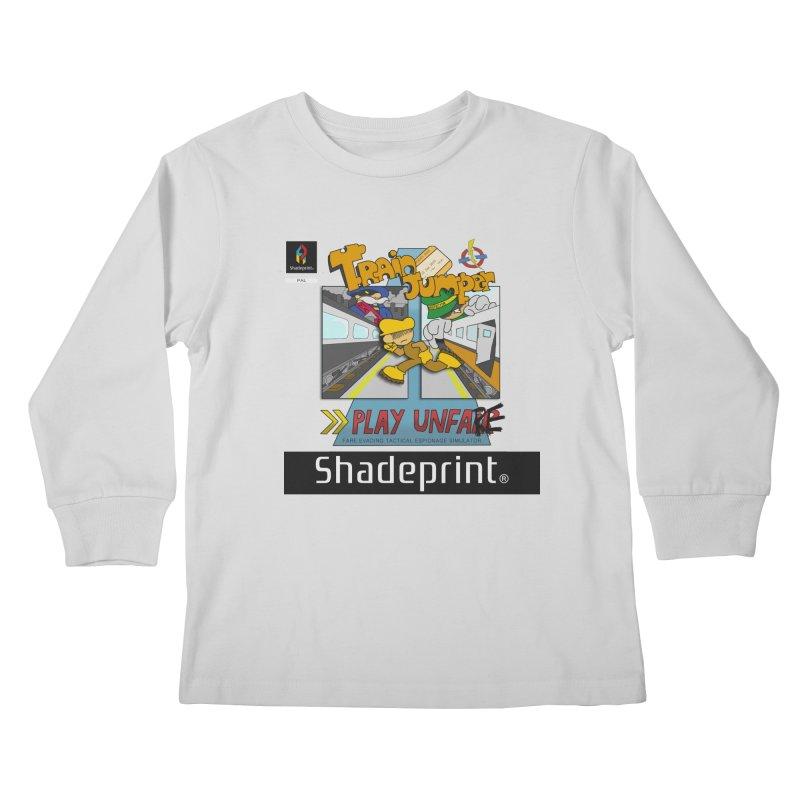 Train Jumper. (Jewel Case Sleeve) [FRONT]. Kids Longsleeve T-Shirt by Shadeprint's Artist Shop