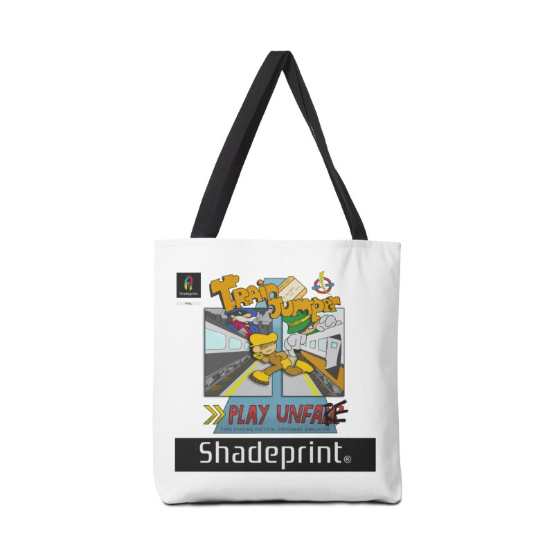 Train Jumper. (Jewel Case Sleeve) [FRONT]. Accessories Tote Bag Bag by Shadeprint's Artist Shop