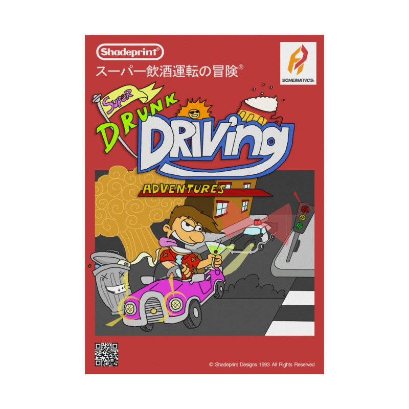 Super Drunk Driving Adventures (Cover Art [JAP]) Accessories Sticker by Shadeprint's Artist Shop