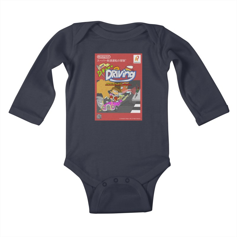 Super Drunk Driving Adventures (Cover Art [JAP]) Kids Baby Longsleeve Bodysuit by Shadeprint's Artist Shop