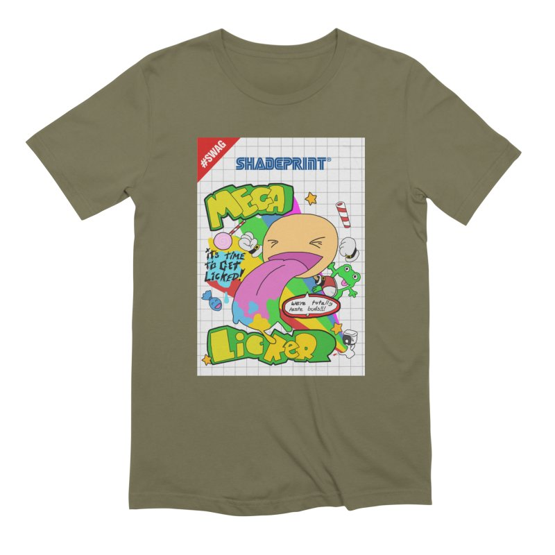Mega Licker! [Cartridge Sleeve Art Work]. Men's T-Shirt by Shadeprint's Artist Shop