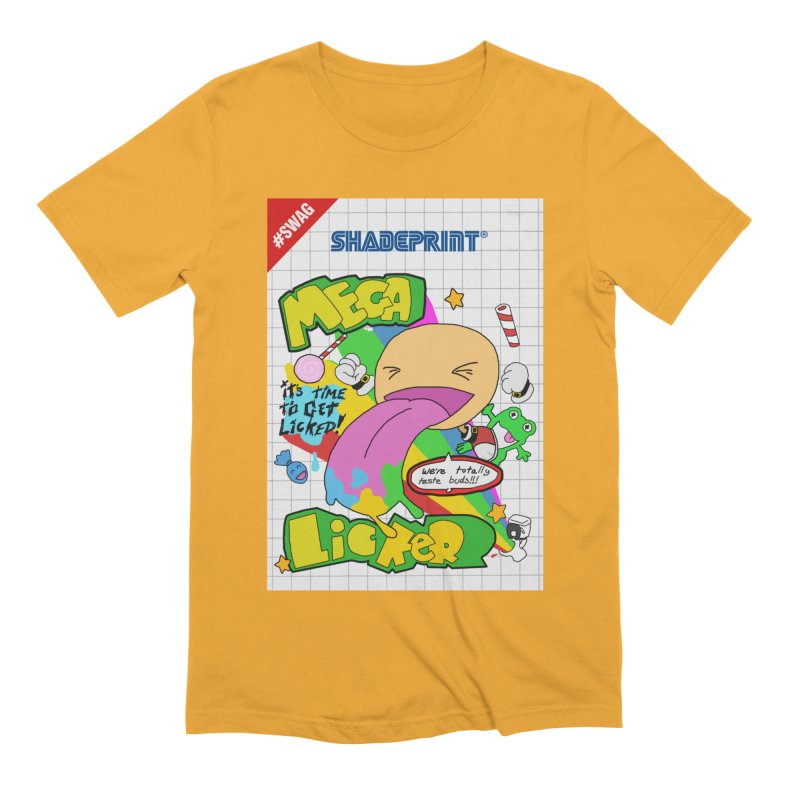 Mega Licker! [Cartridge Sleeve Art Work]. Men's T-Shirt by SHADEPRINT.DESIGN
